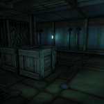 Nice, quiet seclusion in a storage room. For a while...